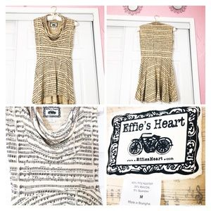 Effie's Heart Music Score Dress